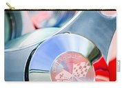1960 Chevrolet Corvette Steering Wheel Emblem Carry-all Pouch by Jill Reger