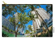 Downtown Miami Brickell Fisheye Carry-all Pouch