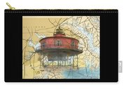 7 Ft Knoll Lighthouse Md Nautical Chart Map Art Cathy Peek Carry-all Pouch