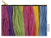 Multicolored Embroidery Thread In Rows Carry-all Pouch