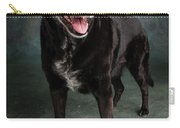 Portrait Of A Labrador Golden Mixed Dog Carry-all Pouch