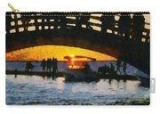 Sunset In Lefkada Town Carry-all Pouch