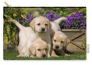 Yellow Labrador Puppies Carry-all Pouch