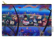 75th Anniversary Of Palm Beach, Florida Oil On Canvas Carry-all Pouch