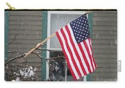 #762 D68 American Flag Winter Carry-all Pouch
