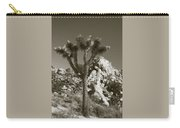 Joshua Tree National Park Landscape No 7 In Sepia Carry-all Pouch