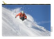 A Young Man Skis Untracked Powder Carry-all Pouch