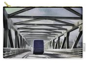 Blue Citylink Bus On A Metal Bridge In Scotland Carry-all Pouch