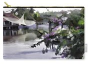 Ducks And Flowers In Lagoon Water Carry-all Pouch