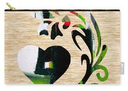 Heart And Flowers Carry-all Pouch