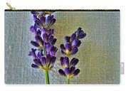 Lavender On Linen Carry-all Pouch