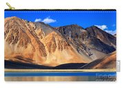 Mountains Pangong Tso Lake Leh Ladakh Jammu And Kashmir India Carry-all Pouch