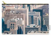 New York City Manhattan Midtown Aerial Panorama View With Skyscr Carry-all Pouch