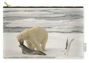 Polar Bear With Fresh Kill Carry-all Pouch