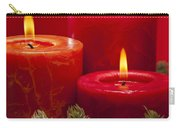 Red Advent Wreath With Candles Carry-all Pouch