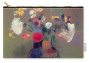Vase Of Flowers Carry-all Pouch by Odilon Redon