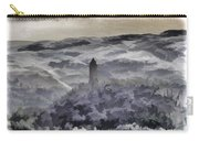 View Of Wallace Monument From The Heights Of The Stirling Castle Carry-all Pouch