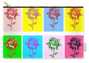 8 Warhol Roses By Punt Carry-all Pouch