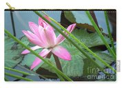 Pink Water Lily Pond Carry-all Pouch