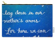 8x10 Dmb So Let Us Sleep Outside Tonight Carry-all Pouch