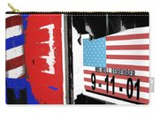 9-11-01 Sign Barber Shop Eloy Arizona 2005 Color Added 2008 Carry-all Pouch