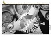1960 Chevrolet Corvette Steering Wheel Emblem Carry-all Pouch by Jill Reger