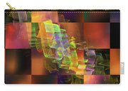 Abstract Checkered Pattern Fractal Flame Carry-all Pouch