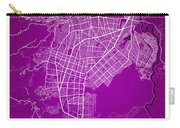 Cali Street Map - Cali Colombia Road Map Art On Colored Back Carry-all Pouch