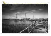 Bridge Of Lions St Augustine Florida Painted Bw Carry-all Pouch