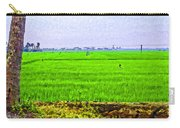 Green Fields With Birds Carry-all Pouch
