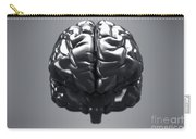 Metallic Brain Carry-all Pouch