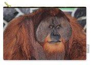 Portrait Of A Large Male Orangutan Carry-all Pouch