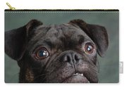 Portrait Of Pug Bulldog Mix Dog Carry-all Pouch