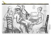 Scene From Pride And Prejudice By Jane Austen Carry-all Pouch by Hugh Thomson
