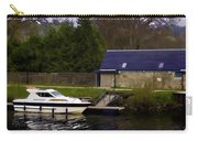 Small White Yacht In The Water Of The Caledonian Canal Carry-all Pouch