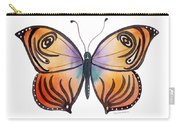 91 Orange Capanea Butterfly Carry-all Pouch by Amy Kirkpatrick