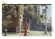91st Street At Lexington Avenue Oil On Canvas Carry-all Pouch