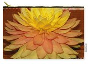#928 D801 Dahlia Orange Yellow Pink Green Carry-all Pouch