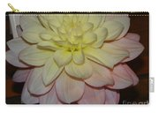 #928 D809 Dahlia Pink White Yellow Dahlia Thoughts Of You Carry-all Pouch