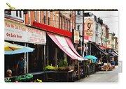 9th Street Italian Market Philadelphia Carry-all Pouch by Bill Cannon