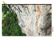 A Athletic Man Rock Climbing High Carry-all Pouch