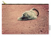 A Baboon On African Road Carry-all Pouch