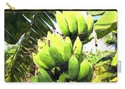 A Banana Field In Late Afternoon Sunlight With Sky And Clouds Carry-all Pouch