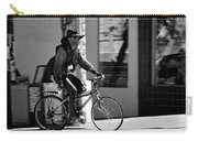 A Barefoot Cyclist With Beard And Hat In San Francisco Carry-all Pouch by RicardMN Photography