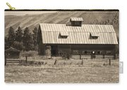 A Barn Near Ellensburg Wa Bw Carry-all Pouch