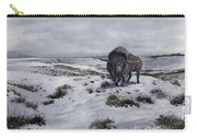 A Bison Latifrons In A Winter Landscape Carry-all Pouch