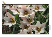 A Bouquet Of Miniature Tulips Celebrating The Spring Season - Vertical Carry-all Pouch