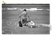 A Boy And His Dog Go Surfing Carry-all Pouch