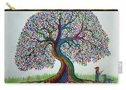 A Boy His Dog And Rainbow Tree Dreams Carry-all Pouch