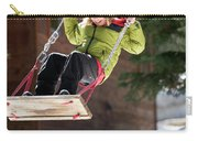 A Boy Plays Outside In Lake Tahoe Carry-all Pouch